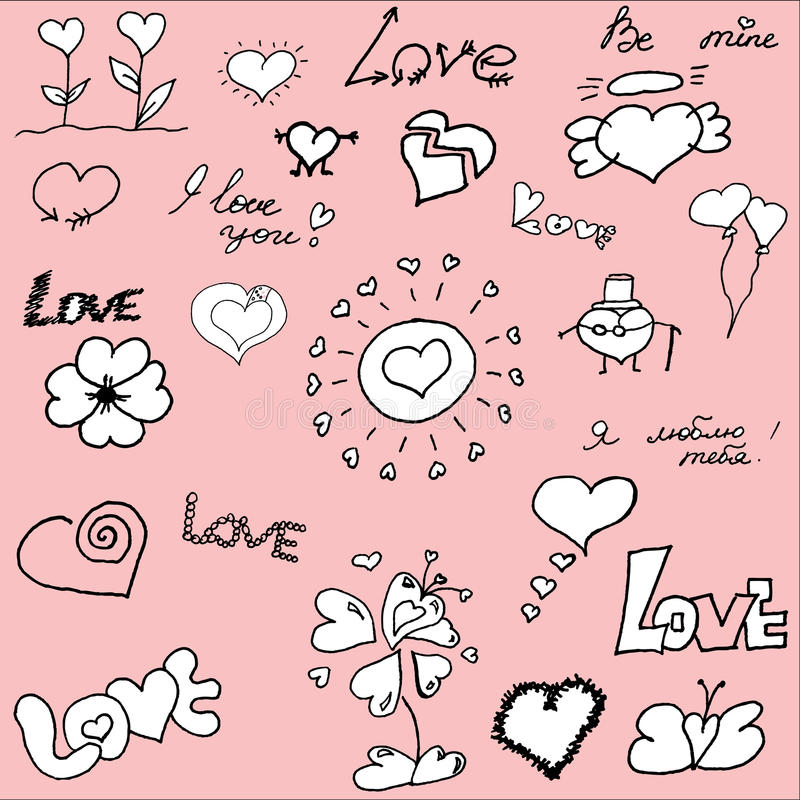 Download Hand Drawn Valentine's Doodles Royalty Free Stock Images - Image: 22523049