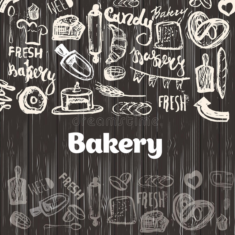 Vector Banners Of Dessert Cakes And Pastry Sweets Stock
