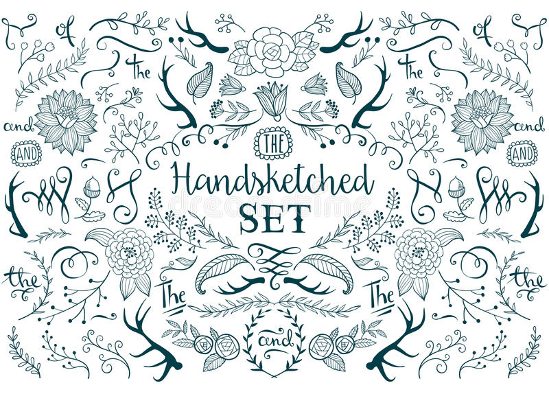 Hand drawn vector elements vector illustration