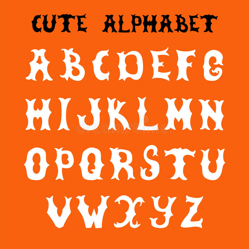 Hand drawn vector font. Sketch style alphabet royalty free illustration