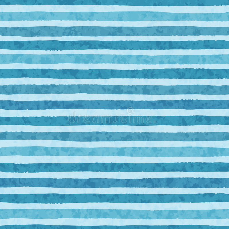Hand drawn vector grunge stripes of cold blue colors seamless pattern on the light background stock illustration