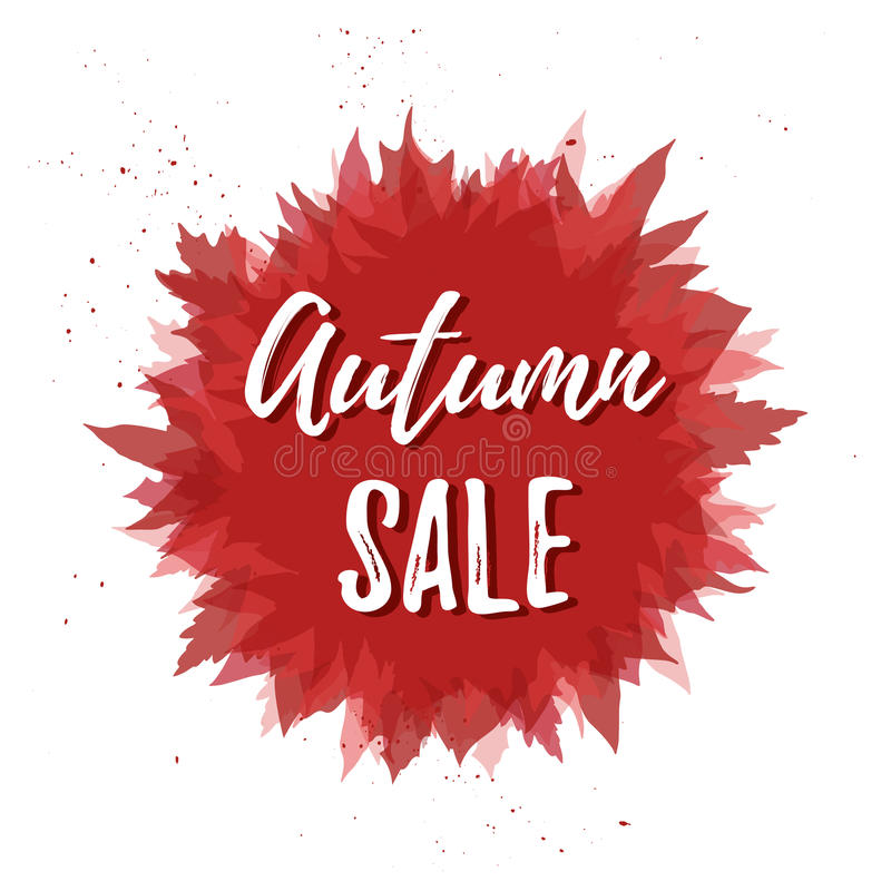 Hand drawn vector illustration. Background with Fall leaves. For. Est design elements. Autumn sale royalty free illustration