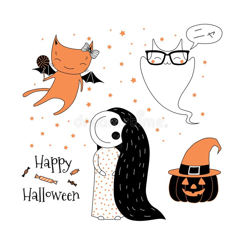 Download Halloween Greeting Card Stock Vector. Illustration Of Background    101011762