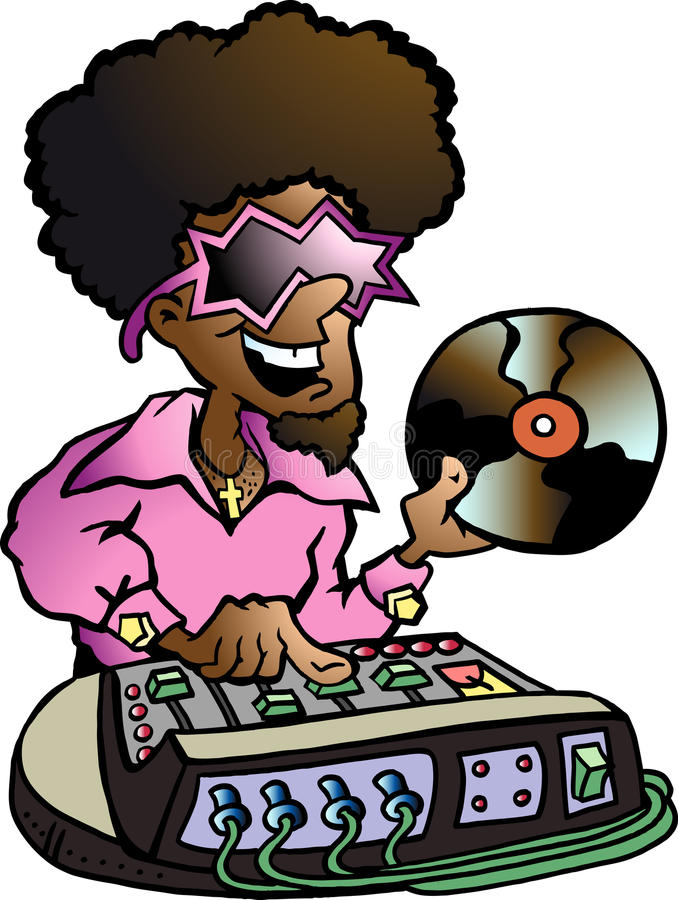 Download Hand-drawn Vector Illustration Of An Disco DJ Royalty Free Stock Photography - Image: 22079837