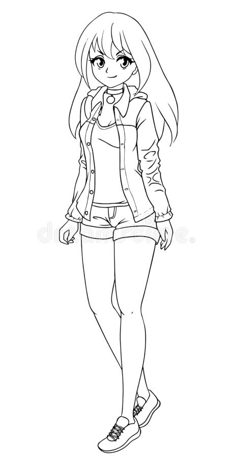 Anime Girl Coloring Page Stock Illustrations 638 Anime Girl Coloring Page Stock Illustrations Vectors Clipart Dreamstime