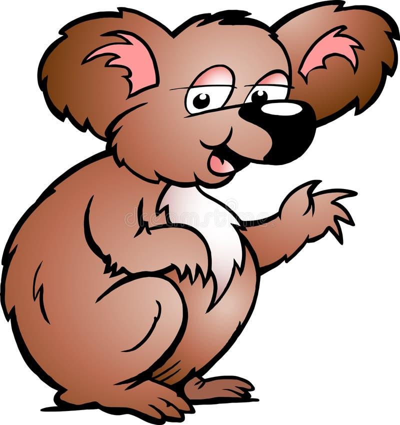 Hand-drawn Vector Illustration Of An Koala Bear Royalty Free Stock Images