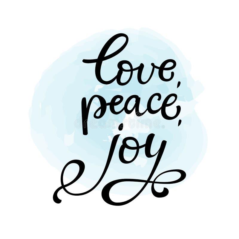Peace Love Joy Quotes New Hand Drawn Vector Lettering Love Peace Joyblack Cal Stock