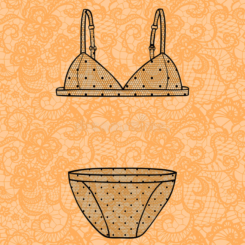 Download Hand Drawn Vector Lingerie Set. Stock Photo - Image: 37483050