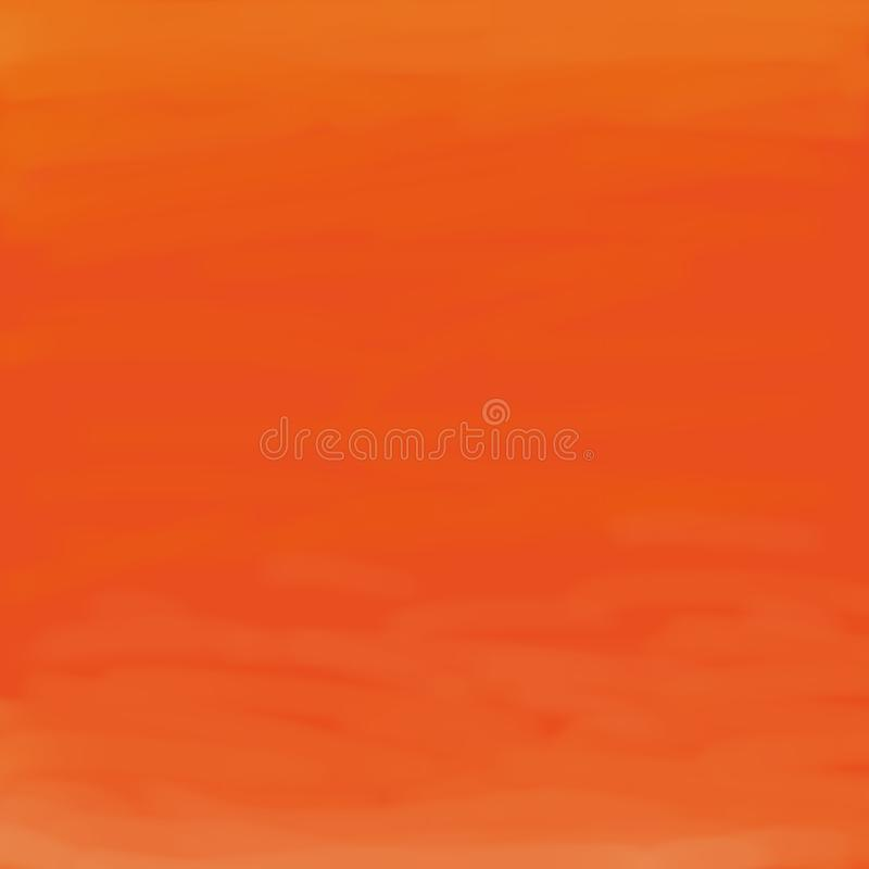 Hand drawn watercolor abstract bright orange background or template for website greeting cards and invitations royalty free stock photos