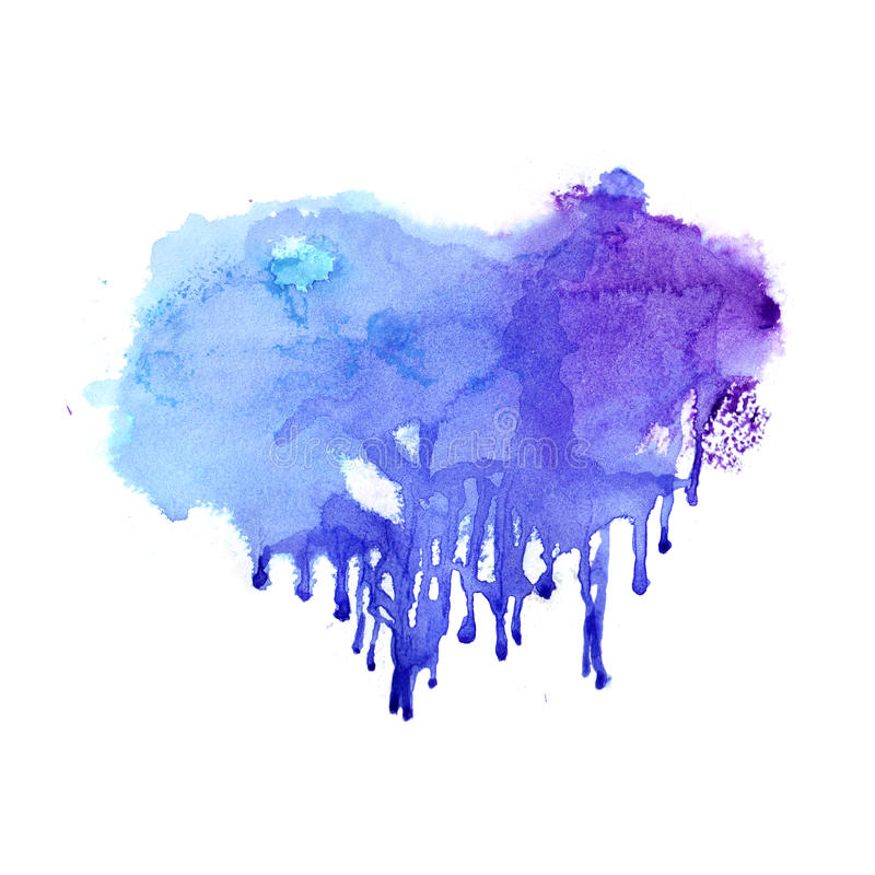 Hand drawn Watercolor background vector illustration