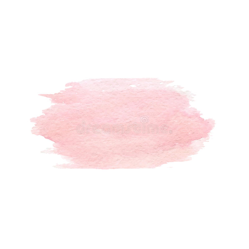 Hand drawn watercolor pink texture isolated. Vector. vector illustration