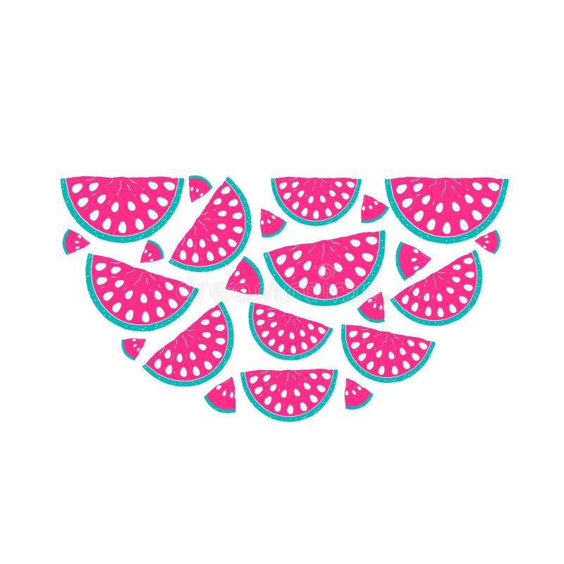 Hand drawn watermelon royalty free illustration