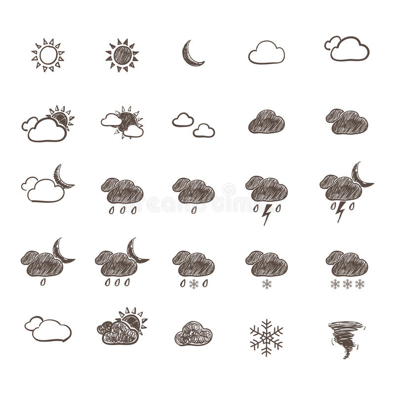 Download Hand Drawn Weather Icon Set Stock Vector - Illustration: 30003335