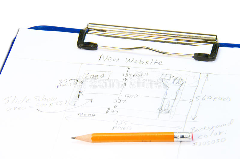 Download Hand Drawn Web Site Design Sketch For Planning Stock Image - Image: 26316291