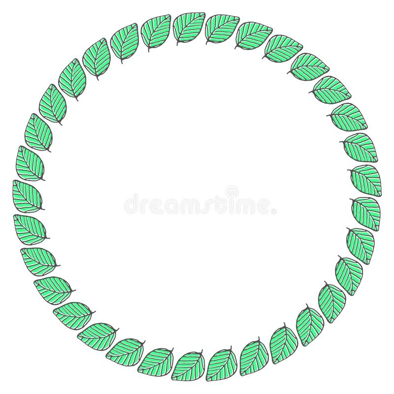 Hand drawn wreath made in vector. royalty free stock photo