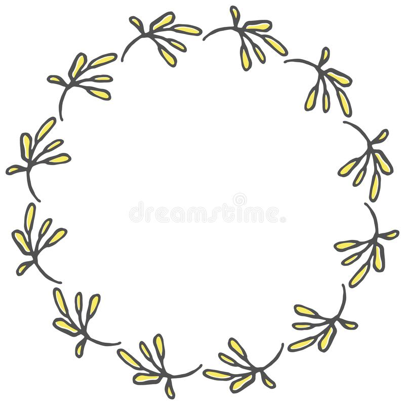 Hand drawn wreath made in vector. royalty free stock image