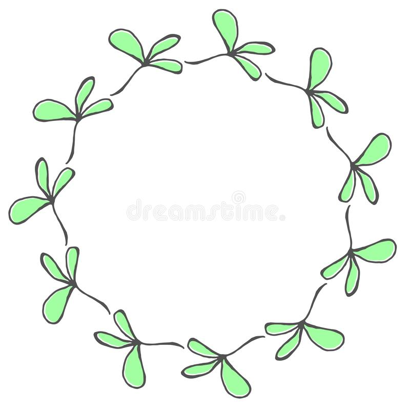 Hand drawn wreath made in vector. royalty free stock photos