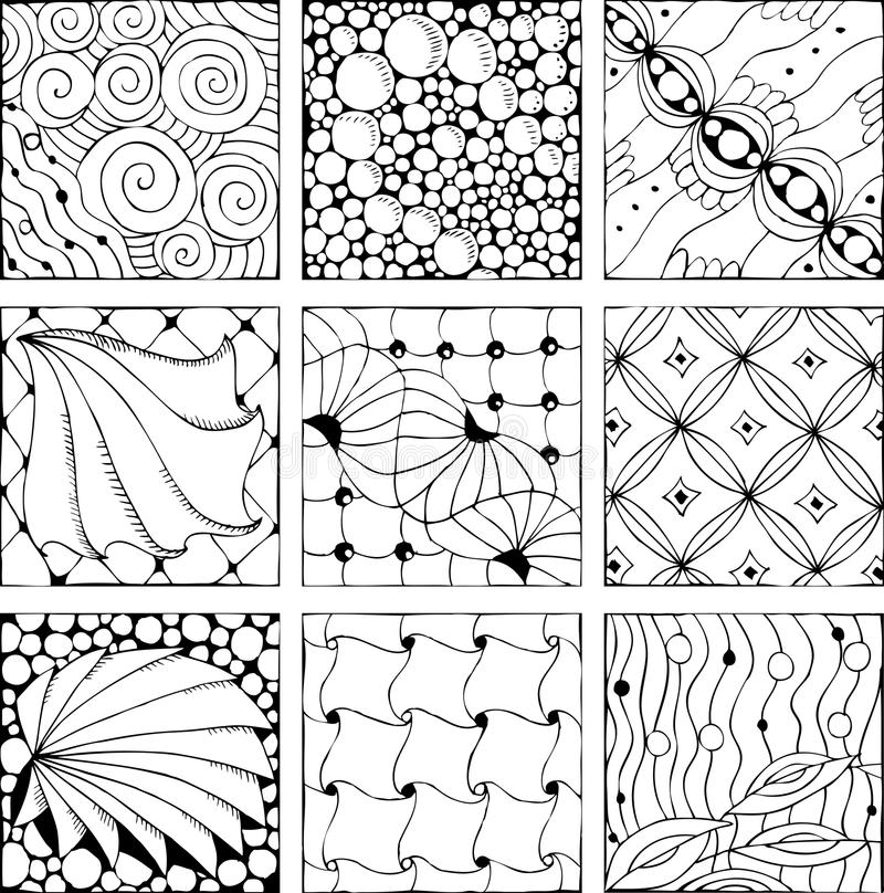 Hand drawn zentangle background for coloring page vector illustration