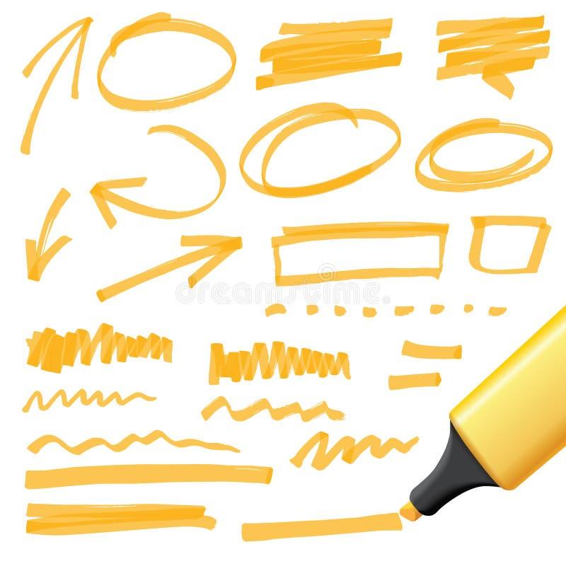 Hand drog designbeståndsdelar vektor illustrationer