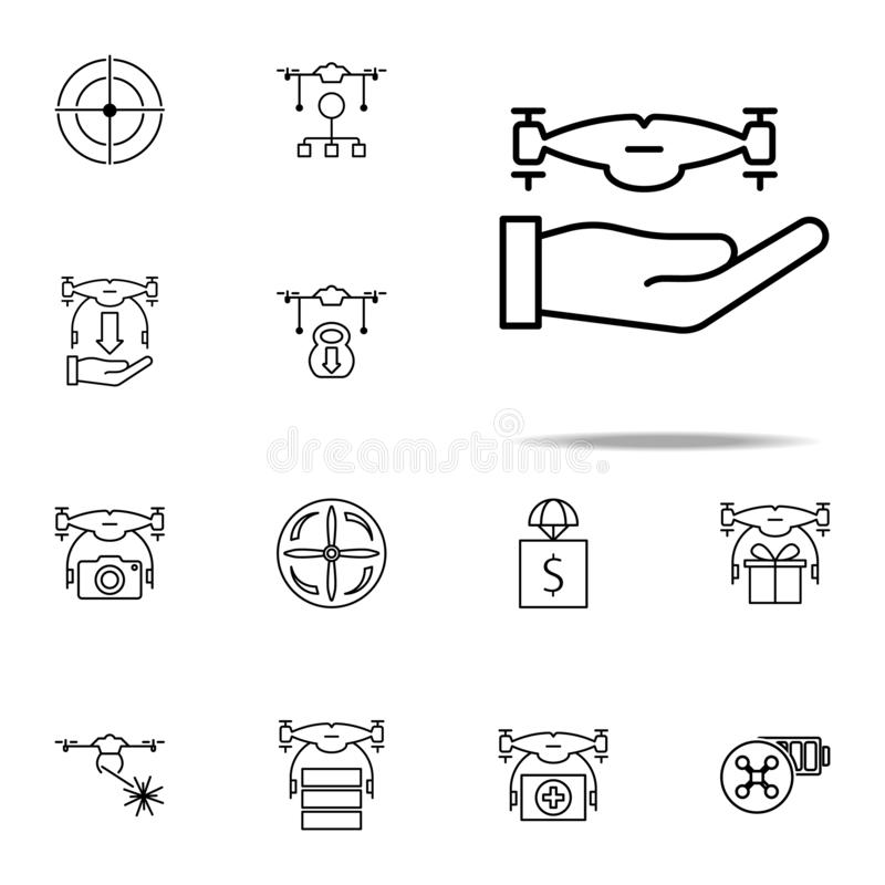 set of high-tech glasses icons stock vector