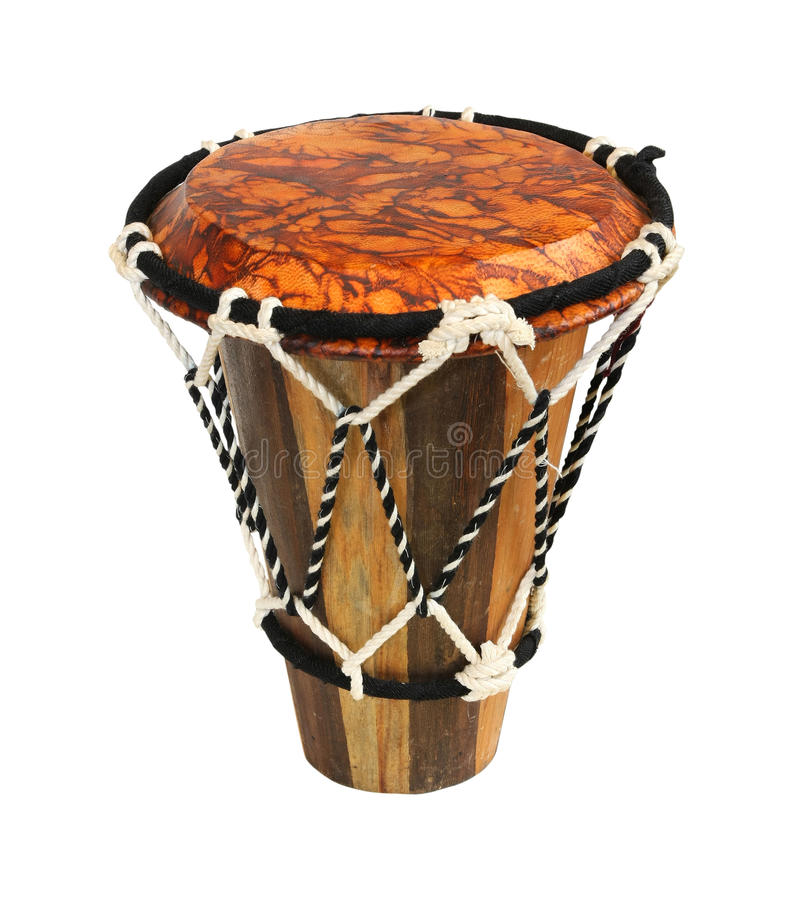 Hand drum. Traditional hand drum isolated with clipping path included stock photos
