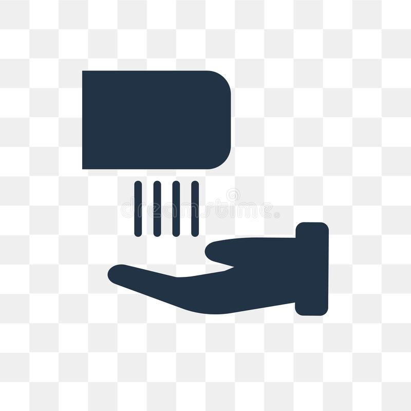 Hand dryer vector icon isolated on transparent background, Hand royalty free illustration