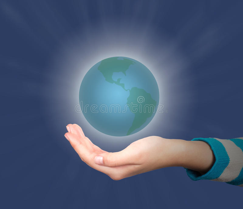 Download Hand and Earth stock image. Image of slap, holding, touch - 29021483