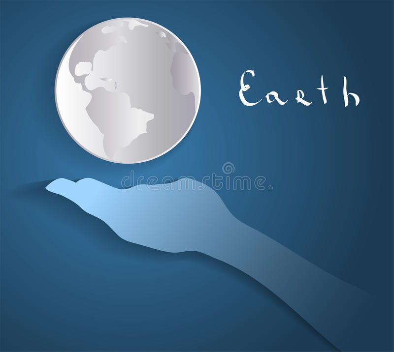 Color hand and Earth. Hand and Earth. This is file of EPS10 format stock images