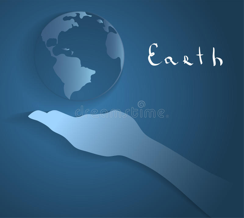 Color hand and Earth. Hand and Earth. This is file of EPS10 format stock photo