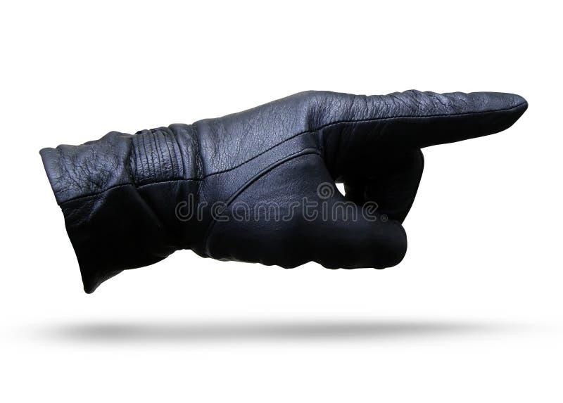 Hand in einem Handschuh stockbilder