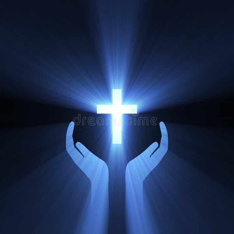 Free Hand Embrace God Cross Light Flare Stock Photography - 6270402