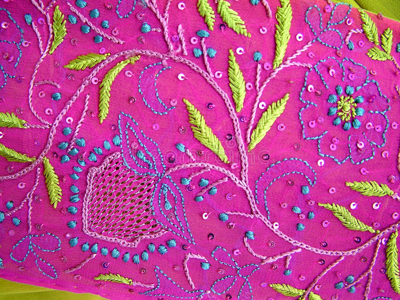 Hand Embroidery royalty free stock images