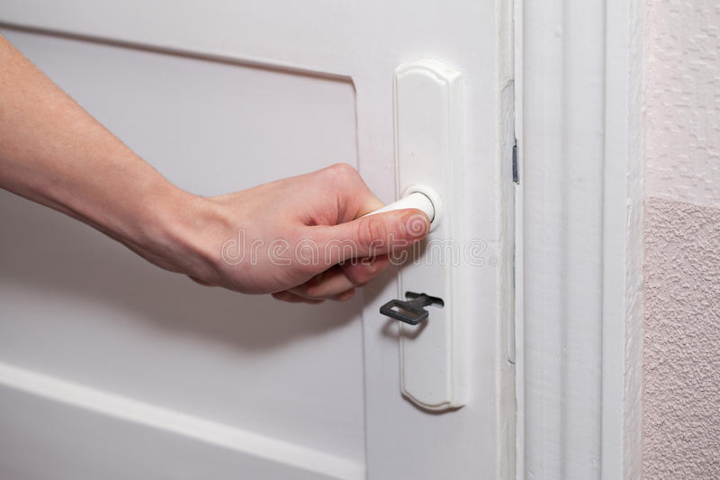 Hand en deur. royalty-vrije stock foto