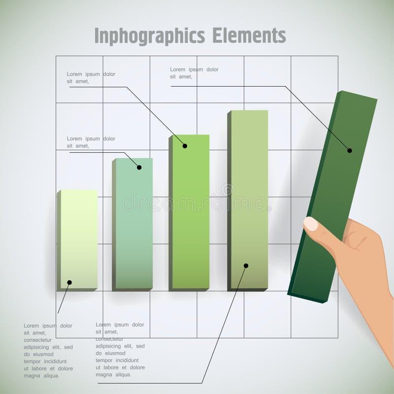 Hand en grafiek vector illustratie