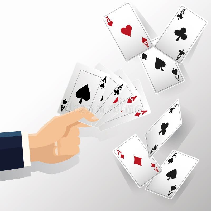 Hand en Kaarten van Pookontwerp stock illustratie