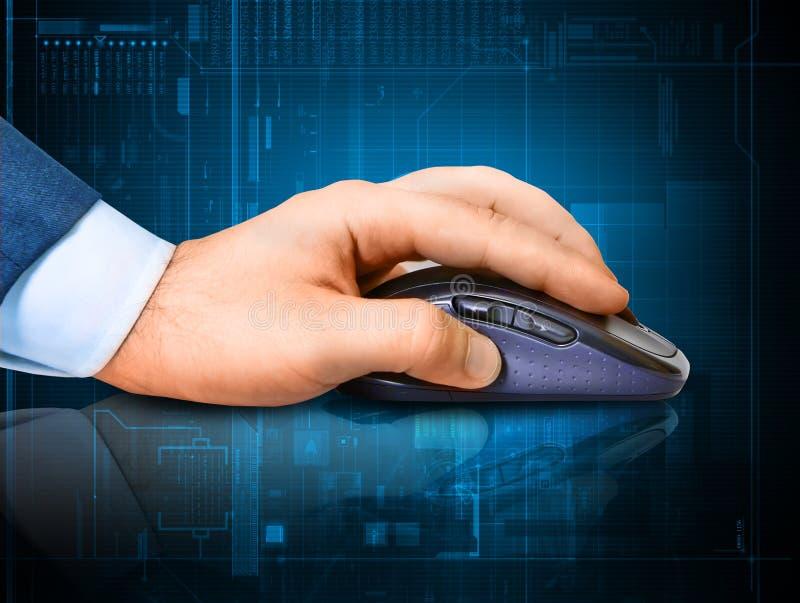 Hand en muis stock illustratie