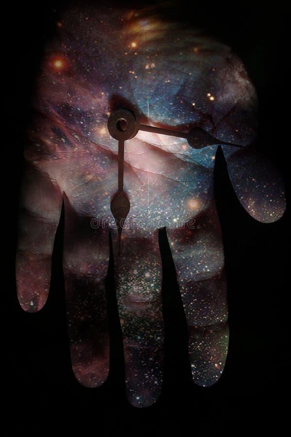 Hand en ruimte vector illustratie