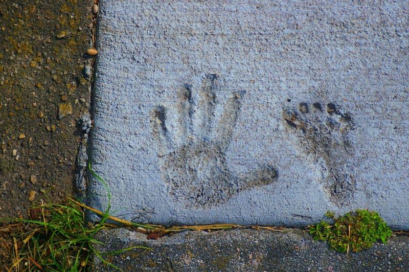Hand en voet stock foto