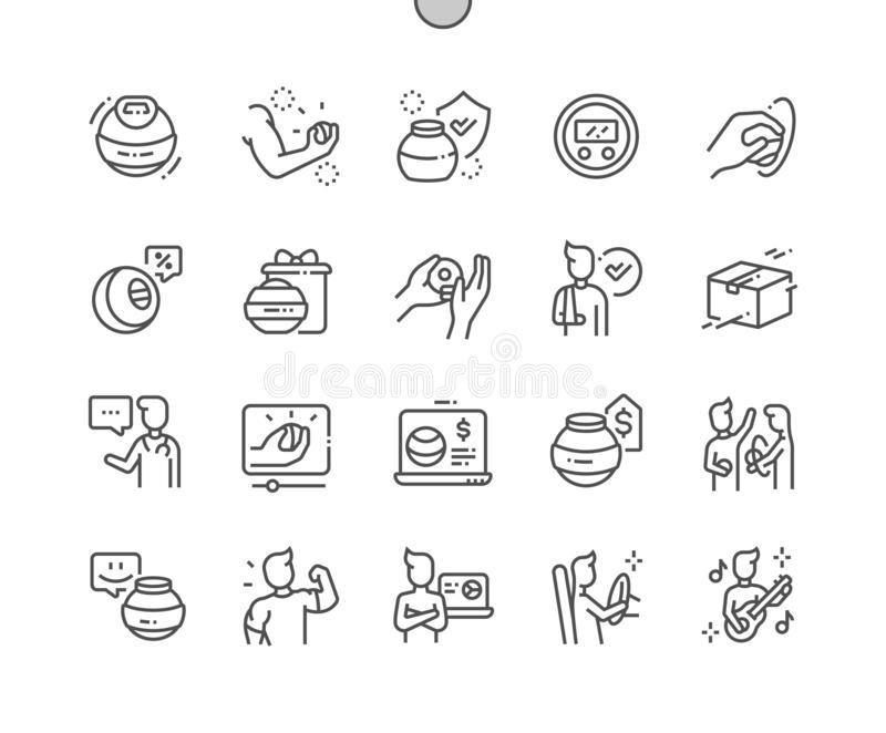 Hand expander Well-crafted Vector Thin Line Icons royalty free stock photo
