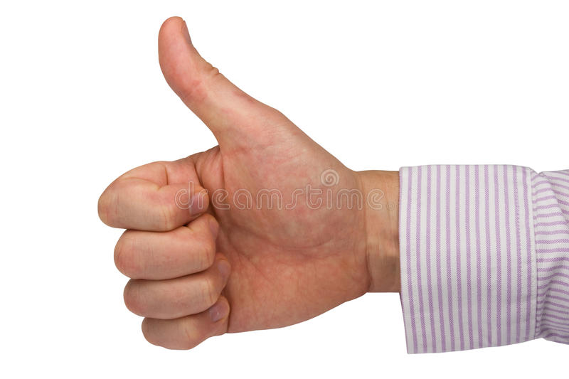 Download Hand Expressing Positive Sign Stock Image - Image of sign, thumb: 17429681