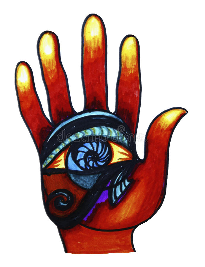 Download Hand with Eye stock illustration. Illustration of mystic - 14221970