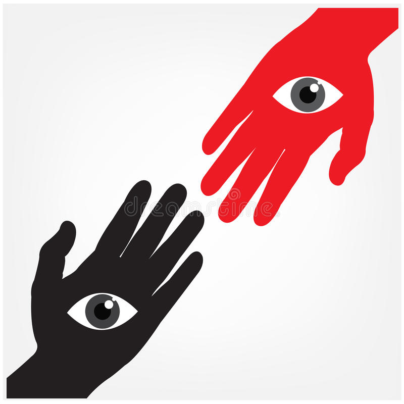 Hand With The Eye,vision Concept Stock Photography