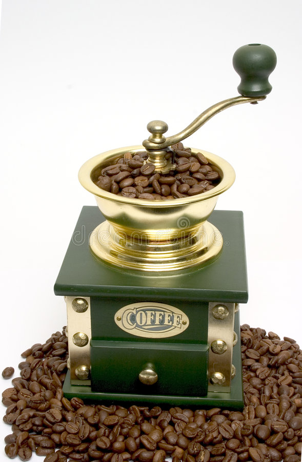 hand för kaffegrinder arkivbilder