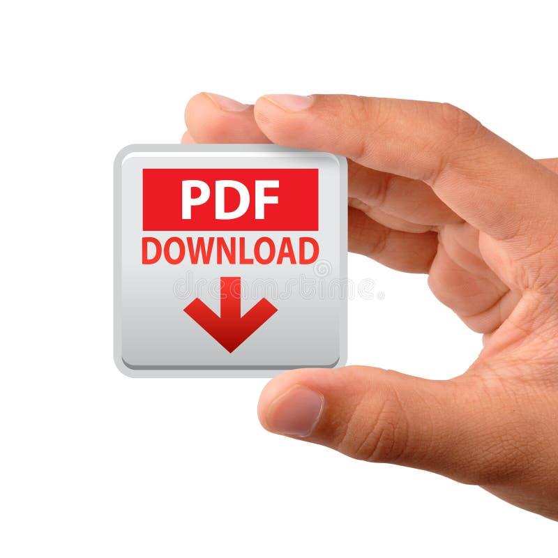 Hand för Pdf-rengöringsduksymbol arkivbilder