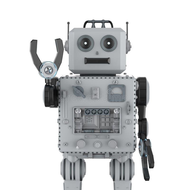 Hand för robottennleksak upp stock illustrationer