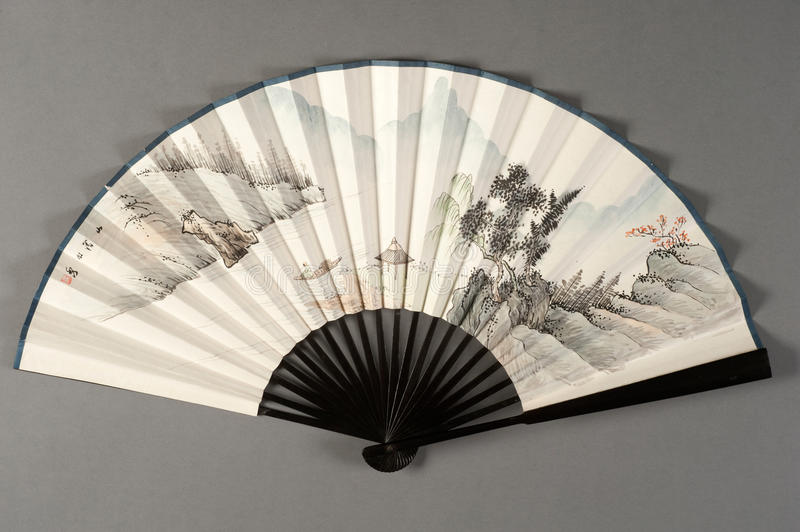 Hand fan of chinese theater. Hand fan of a chinese theater stock photos
