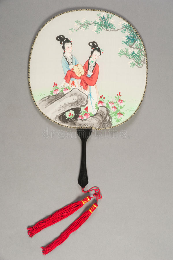Hand fan of chinese theater. Hand fan of a chinese theater stock image
