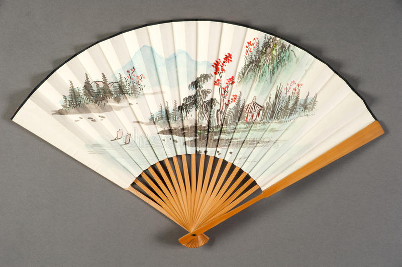 Hand fan of chinese theater. Hand fan of a chinese theater royalty free stock photos