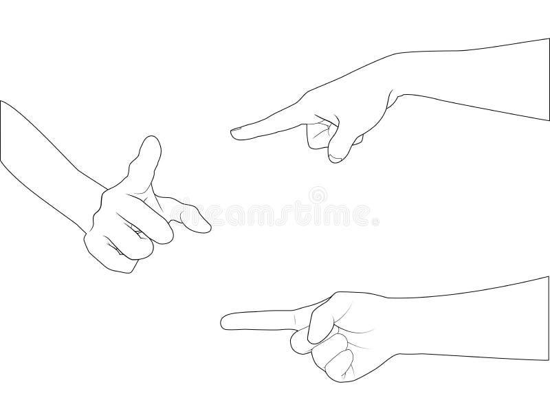 Download Hand fastställda B_point vektor illustrationer. Illustration av posera - 37345954
