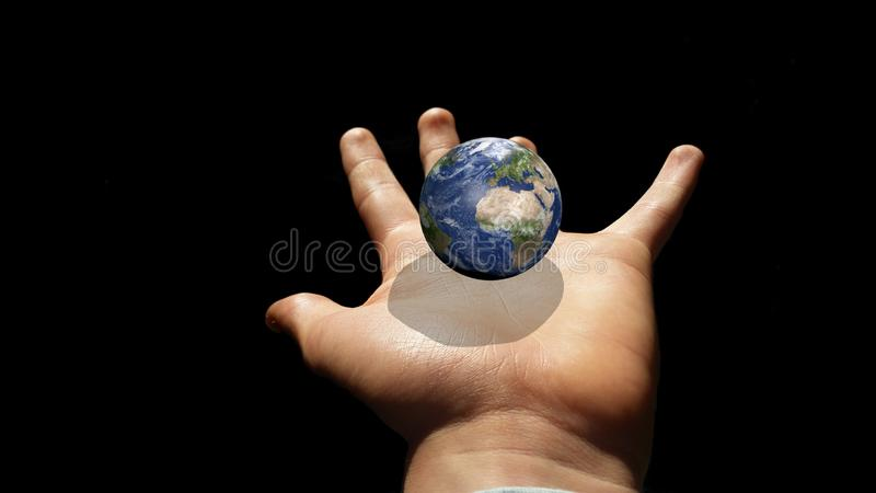 Hand, Finger, Earth, Close Up royalty free stock photos